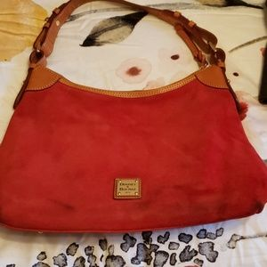Dooney and Bourke Suede hobo bag